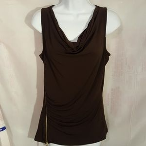 Michael Kors Womens Top Brown Sleeveless Small